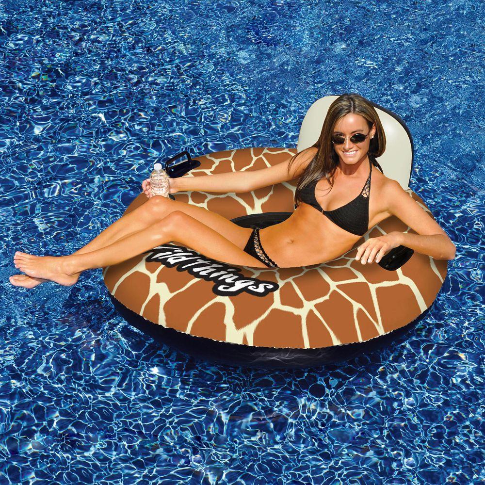 Coussin gonflable Wildthings� pour piscine, imprimé girafe, 1 mètre