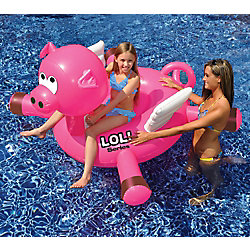 Swimline LOL 54-inch Pig inflatable Ride-On Pool Toy