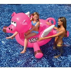 Swimline Cochon gonflable à chevaucher LOL pour piscine, 137 cm (54 po)
