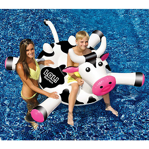 LOL 54-inch Cow inflatable Ride-On Pool Toy
