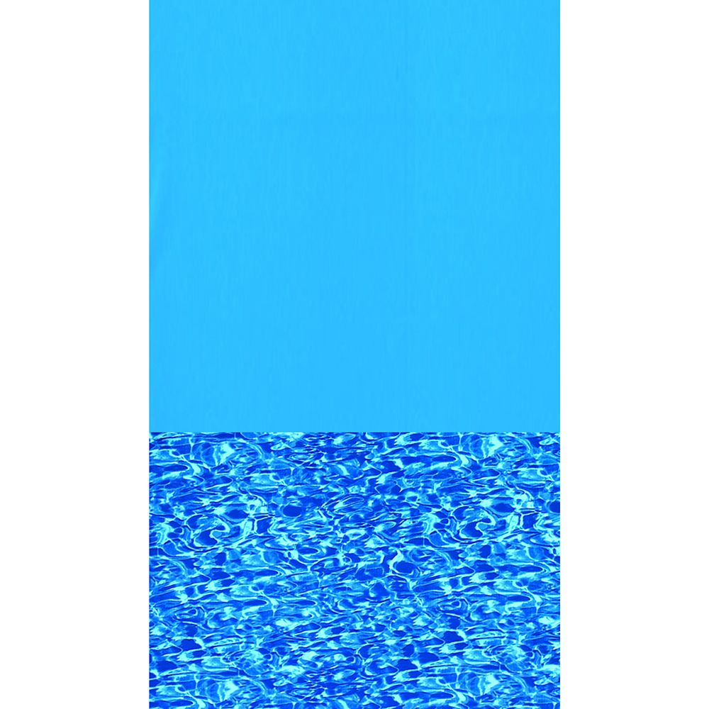 Toile à chevauchement Swirl Bottom pour piscine, 8,2 m, ronde, 1,21/1,33 m de haut