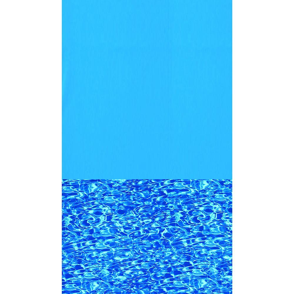 Toile à chevauchement Swirl Bottom pour piscine, 5,5 m (18 pi), ronde, 122/132 cm (48/52 po) de h...