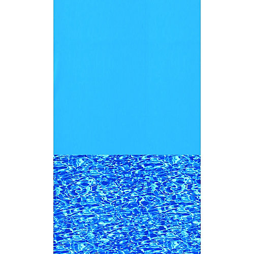 Toile à chevauchement Swirl Bottom pour piscine, 4,6 m x 9,1 m (15 pi x 30 pi), ovale, 122/132 cm (48/52 po) de haut