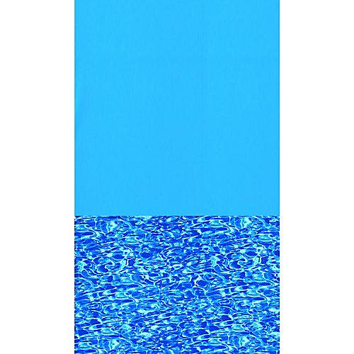 Toile à chevauchement Swirl Bottom pour piscine, 5,5 m x 10 m (18 pi x 33 pi), ovale, 122/132 cm (48/52 po) de haut