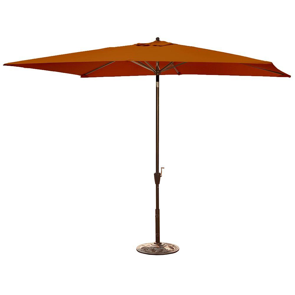 Adriatic 6.5 ft. x 10 ft. Rectangular Market Umbrella in Terra Cotta Olefin