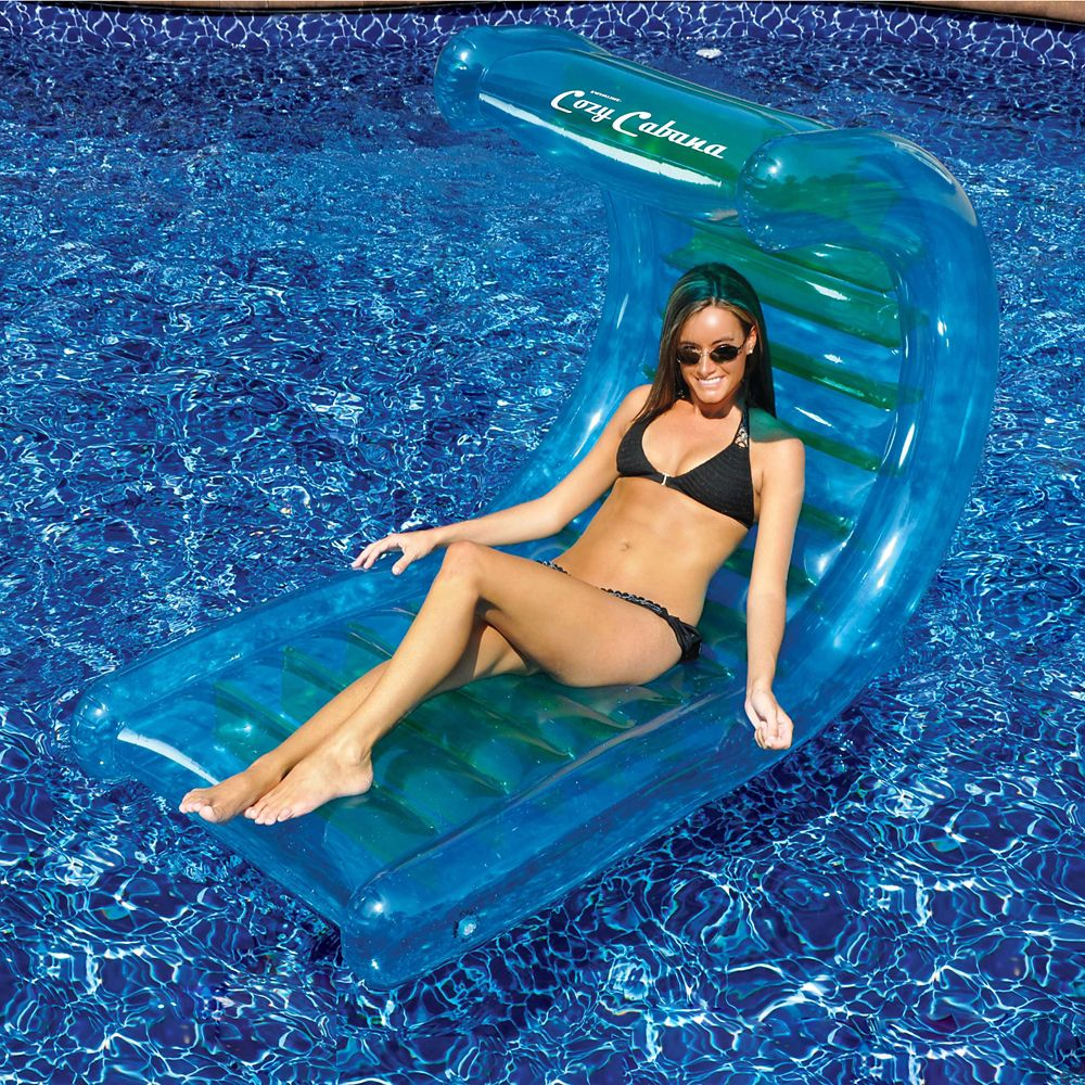 Cozy Cabana 56Inch Inflatable Pool Lounger