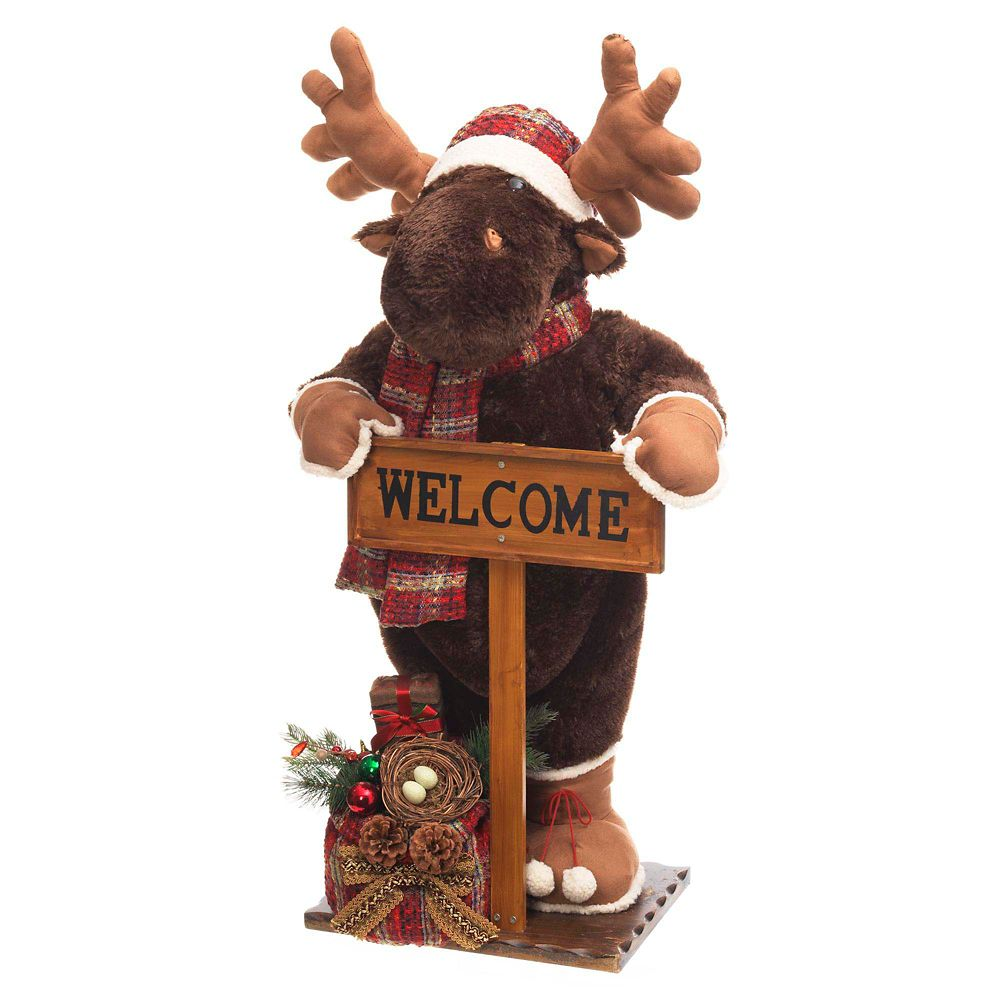 Home Depot Decorations: Home Accents Holiday 36-inch Holiday Plush Moose With