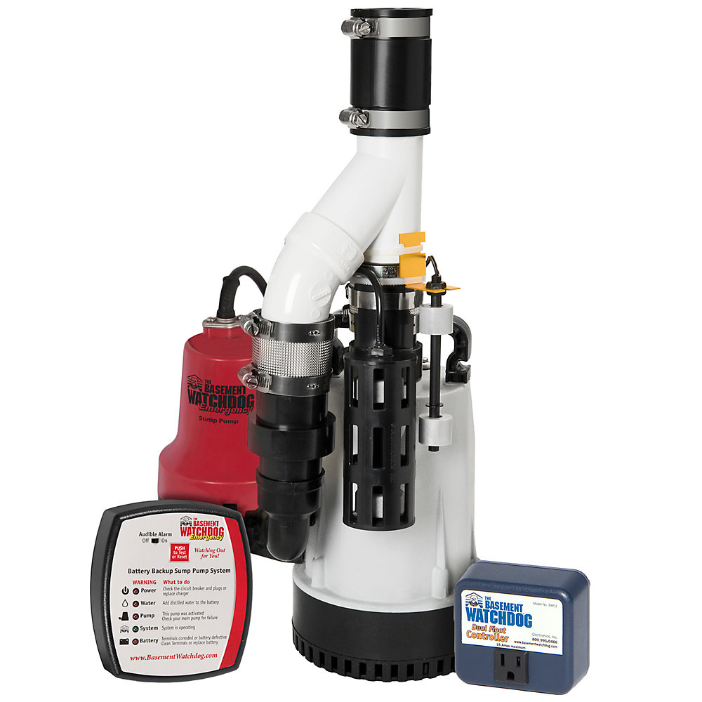 1/3 HP Submersible Combination Sump Pump System