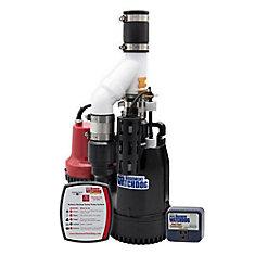 1/3 HP submersible Combinaison système de pompe de puisard