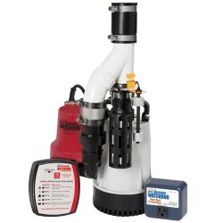 Basement Watchdog 1/3 HP Submersible Combination Sump Pump System