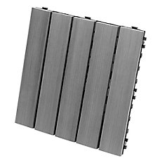 12-inch x 12-inch Deck and Balcony Tile in Grey (10-Pack)