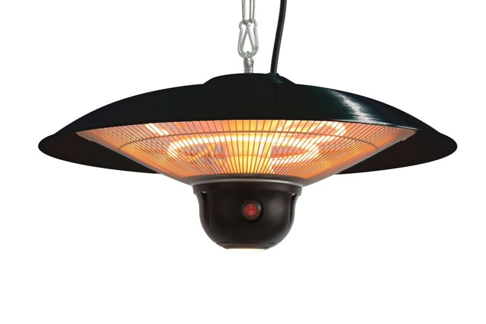 800 � 1500W Hanging Infrared Gazebo Heater with LED Light and Wireless Remote