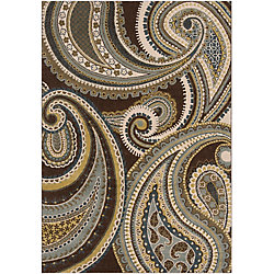 Artistic Weavers Curapa Brown 5 ft. 3-inch x 7 ft. 6-inch Indoor Transitional Rectangular Area Rug