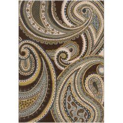 Artistic Weavers Carpette d'intérieur, 7 pi 10 po x 10 pi 6 po, style transitionnel, rectangulaire, brun Curapa
