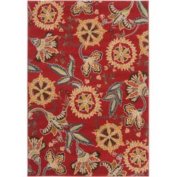 Artistic Weavers Tucupita Red 5 ft. 3-inch x 7 ft. 6-inch Indoor Transitional Rectangular Area Rug