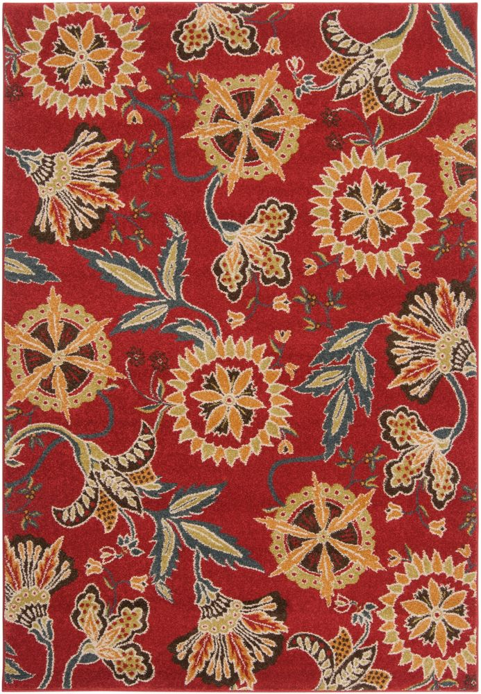 Tucupita Red 7 ft. 10-inch x 10 ft. 6-inch Indoor Transitional Rectangular Area Rug