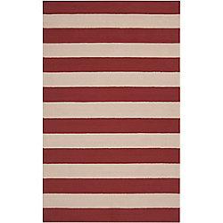 Artistic Weavers Tapis de passage d'intérieur/extérieur, 8 pi x 10 pi, style transitionnel, rectangulaire, rouge Montero