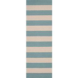 Artistic Weavers Tapis de passage d'intérieur/extérieur, 2 pi 6 po x 8 pi, style transitionnel, bleu Riberalta