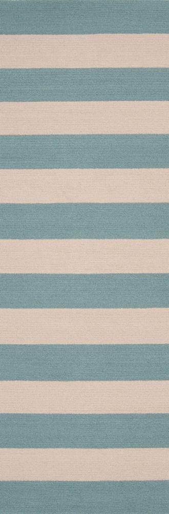 Tapis Passage Riberalta bleu ardoise en polypropylène pour intérieur/extérieur-2 Po. 6 Pi. x 8 Po...