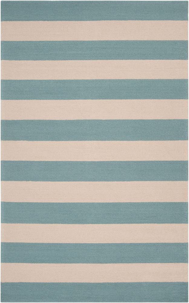 Riberalta Slate Blue Polypropylene Indoor/Outdoor  - 5 Ft. x 8 Ft. Area Rug