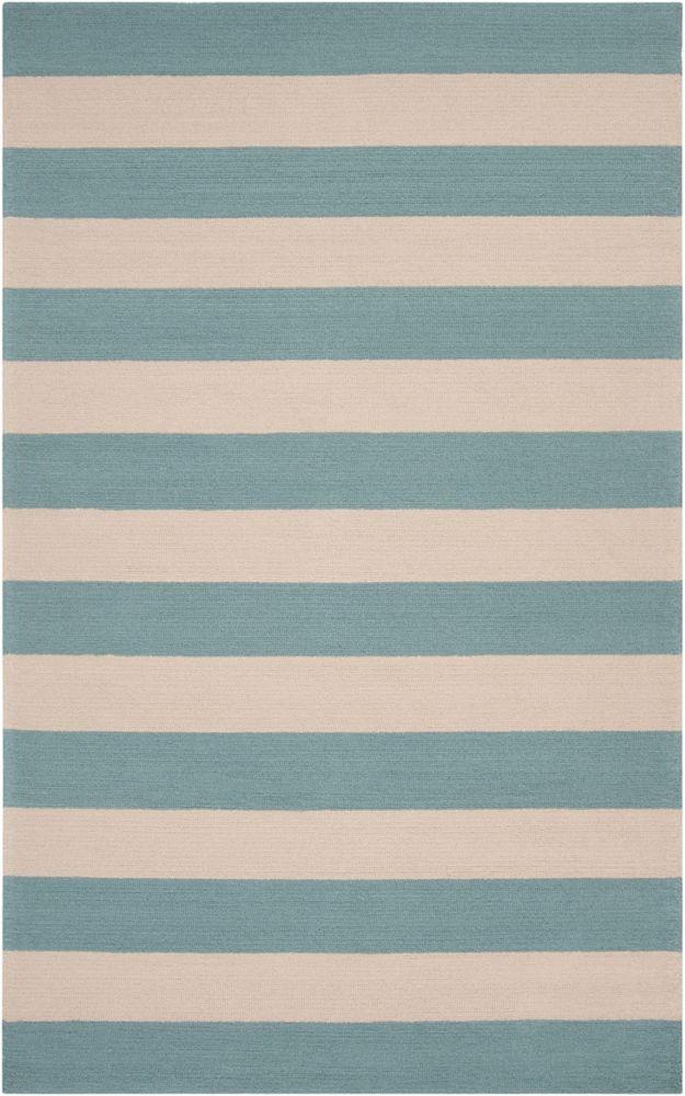 Tapis Carpette Riberalta bleu ardoise en polypropylène pour intérieur/extérieur - 8 Po. x 10 Po.