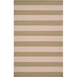 Artistic Weavers Tapis de passage d'intérieur/extérieur, 8 pi x 10 pi, style transitionnel, rectangulaire, blanc cassé Cobija