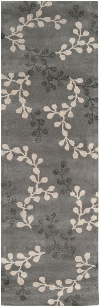 Satipo Blue Gray New Zealand Wool Runner - 2 Ft. 6 In. x 8 Ft. Area Rug
