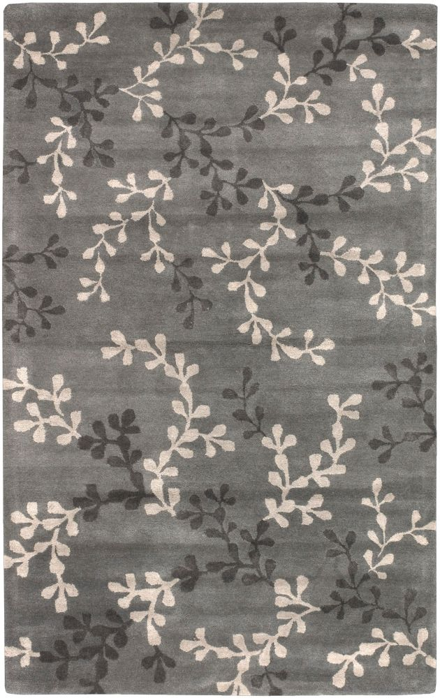 Satipo Blue Gray New Zealand Wool  - 8 Ft. x 11 Ft. Area Rug