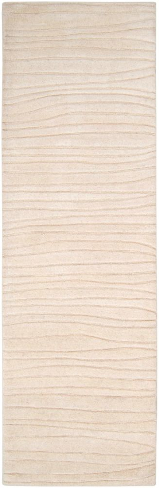 Mendoza Ivory New Zealand Wool Runner - 2 Ft. 6 In. x 8 Ft. Area Rug