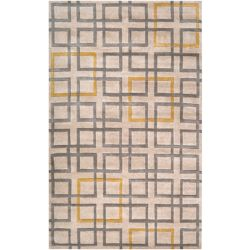 Artistic Weavers Carpette d'intérieur, 5 pi x 8 pi, à poils longs, style contemporain, rectangulaire, havane Calama