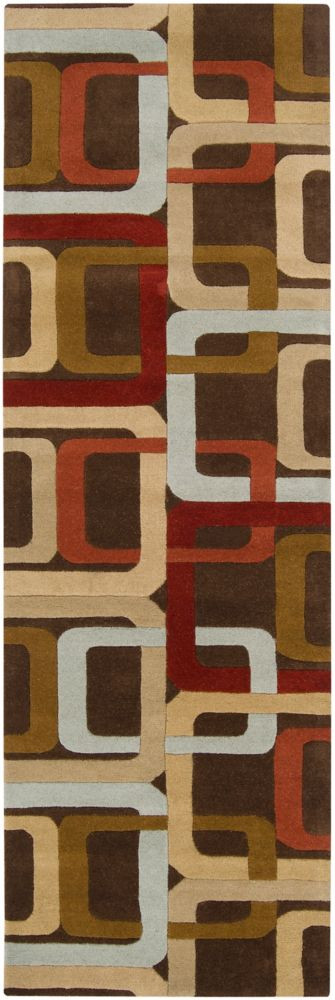 Artistic Weavers Osasco Brown 2 ft. 6-inch x 8 ft. Indoor Contemporary Runner