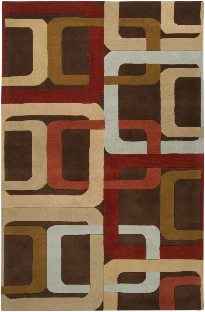 Osasco Brown 8 ft. x 11 ft. Indoor Contemporary Rectangular Area Rug