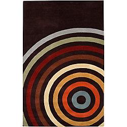 Artistic Weavers Carpette d'intérieur, 5 pi x 8 pi, à poils longs, style contemporain, rectangulaire, noir Pessoa