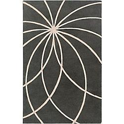 Artistic Weavers Carpette d'intérieur, 5 pi x 8 pi, à poils longs, style contemporain, rectangulaire, gris Contagem