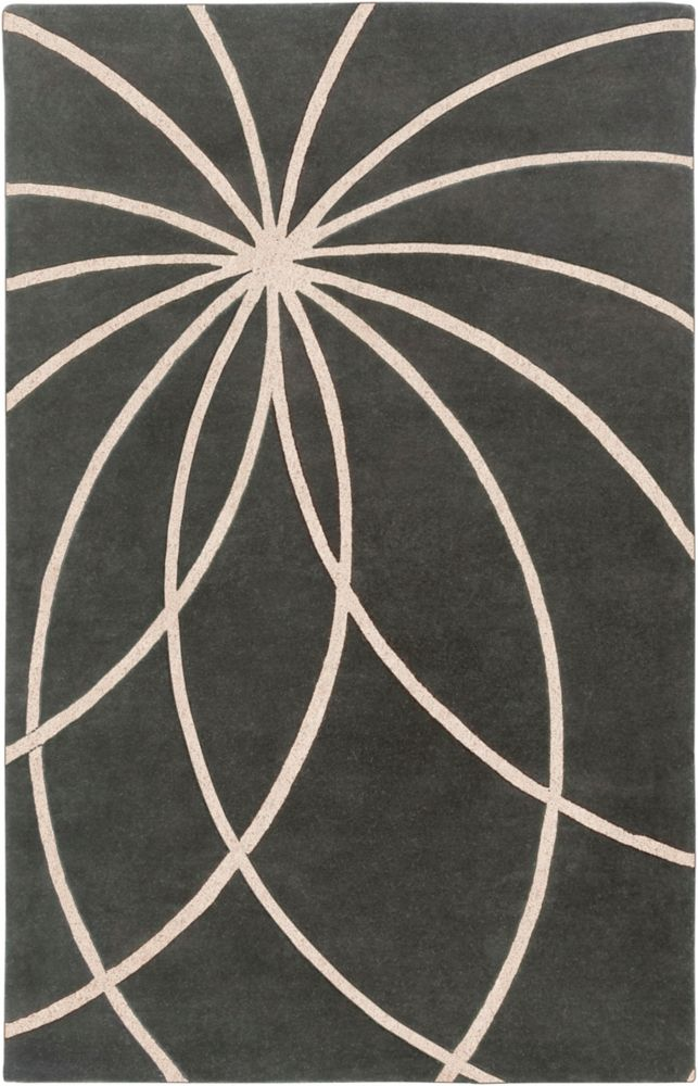 Contagem Grey 5 ft. x 8 ft. Indoor Contemporary Rectangular Area Rug