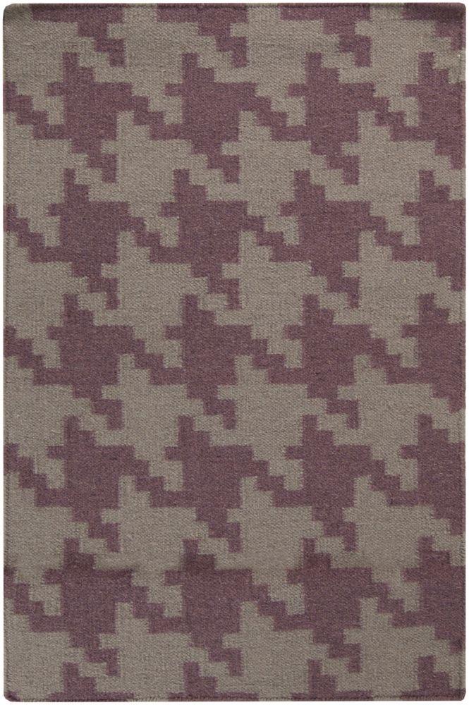 Sorocaba Mulled Wine Wool Flatweave 2 Feet x 3 Feet Accent Rug