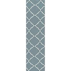 Artistic Weavers Tapis de passage d'intérieur, 2 pi 6 po x 8 pi, style contemporain, bleu Maringa