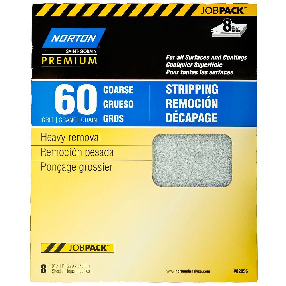 Premium Sandpaper 9 Inch X11 Inch  60 C 8PK Job Pack