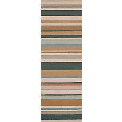 Artistic Weavers Tapis de passage d'intérieur/extérieur, 2 pi 6 po x 8 pi, style transitionnel, vert Toquia