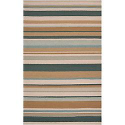 Artistic Weavers Toquia Green 8 ft. x 10 ft. Indoor/Outdoor Transitional Rectangular Area Rug