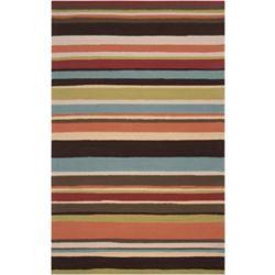 Artistic Weavers Tapis de passage d'intérieur/extérieur, 8 pi x 10 pi, style transitionnel, rectangulaire, rouge Carzia