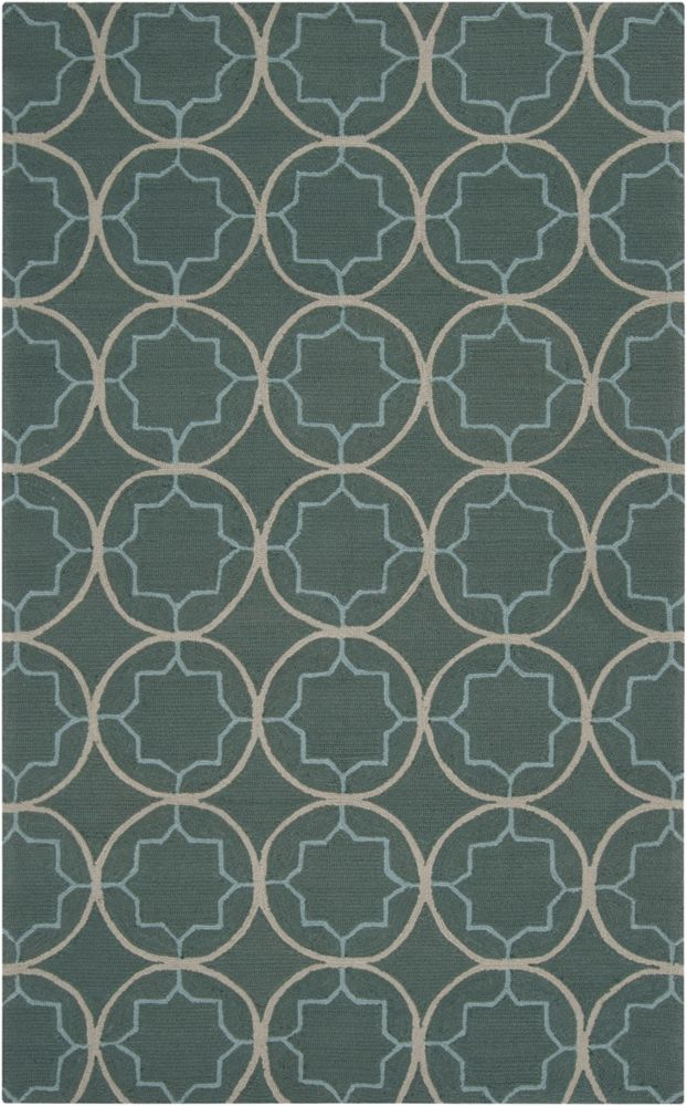 Artistic Weavers Juma Blue 5 ft. x 8 ft. Indoor/Outdoor Transitional Rectangular Area Rug