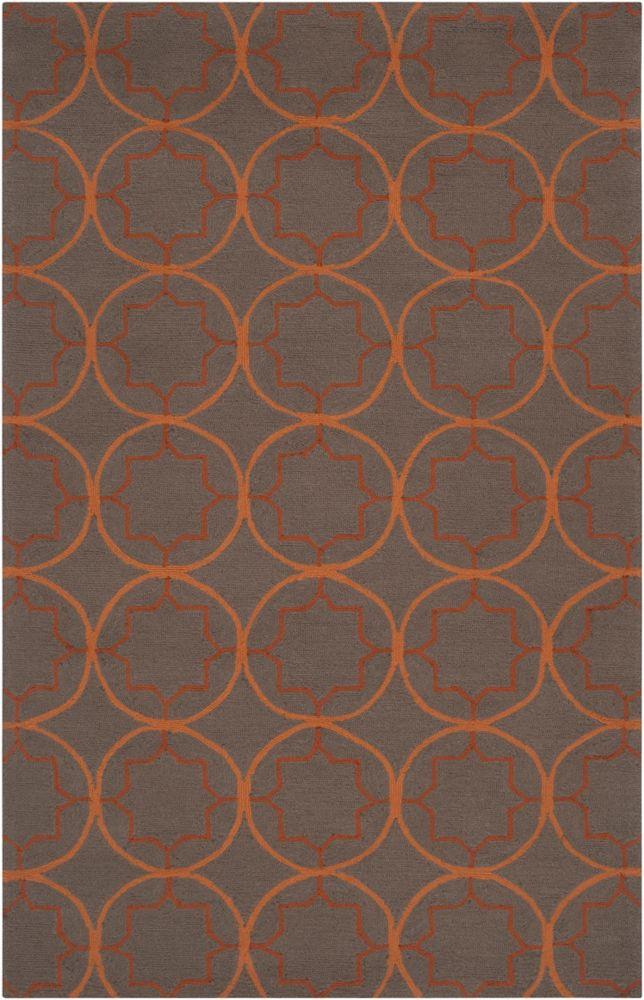 Artistic Weavers Margilia Brown 5 ft. x 8 ft. Indoor/Outdoor Transitional Rectangular Area Rug