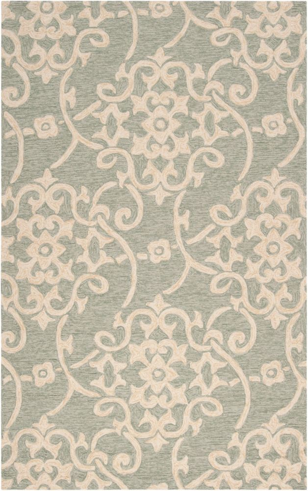 Piskent Green 2 ft. x 3 ft. Indoor/Outdoor Transitional Rectangular Accent Rug