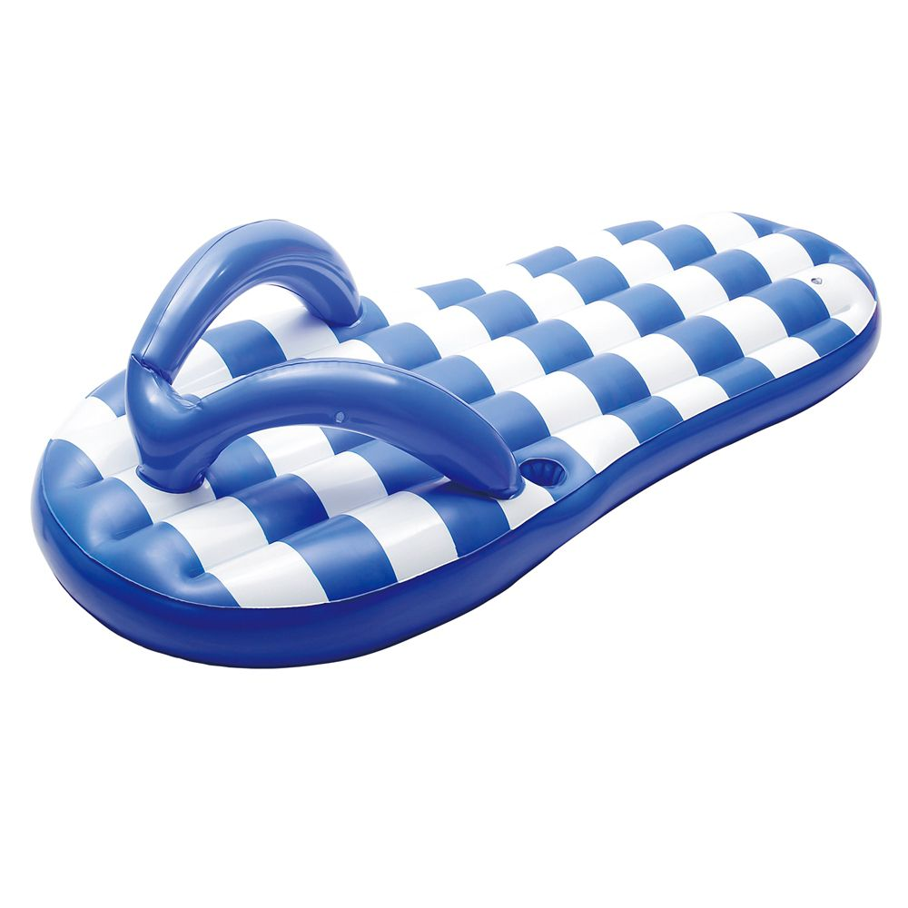 Blue Wave Flip Flop Marine Blue 71-inch Inflatable Pool Float