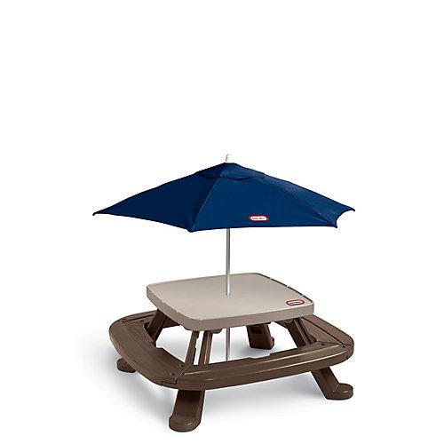 Table de pique-nique Fold 'n Store avec parasol de marché