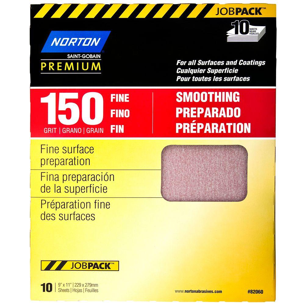 Premium Sandpaper 9 Inch X11 Inch  150 F 10PK Job Pack