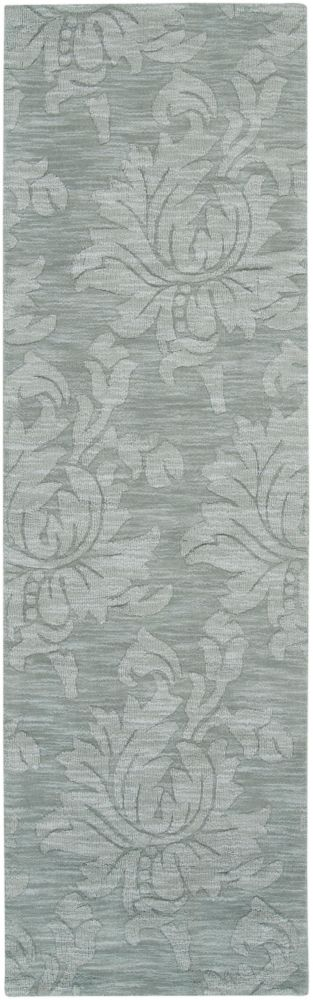 Biruca Gray Blue Wool Runner - 2 Ft. 6 In. x 8 Ft. Area Rug