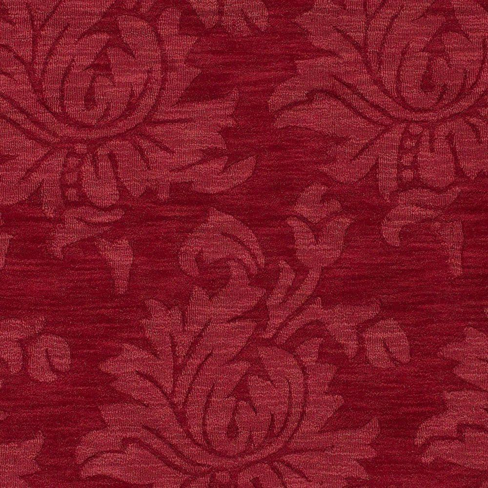 Tapis Carpette Amparu rouge rubis en laine - 5 Po. x 8 Po.
