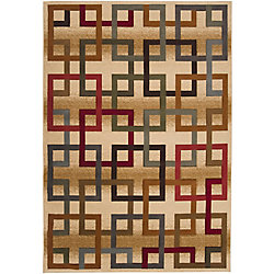 Artistic Weavers Turmero Gold 5 ft. 3-inch x 7 ft. 3-inch Indoor Contemporary Rectangular Area Rug